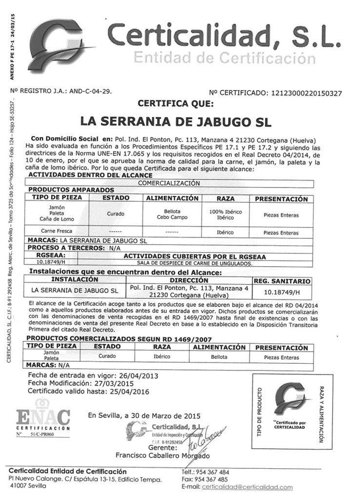 etiquetado jamón ibérico
